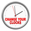 Change your clocks — Stock fotografie #32384277