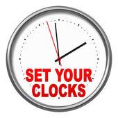 Instellen van uw klokken — Stockfoto