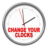 Change your clocks — Foto Stock