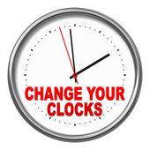 Saatlerinizi değiştirmek — Stok fotoğraf