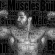 Word picture body builder — Stock Photo
