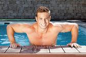 Człowiek, pływanie — Zdjęcie stockowe