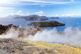 Lipari Islands active volcano — Stock Photo