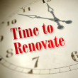 Time to renovate — Stock Photo