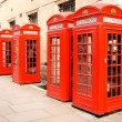 Red phone boxes London — Stock Photo #36554903