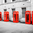 Red phone boxes London — Stock Photo #36554923