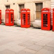 Red phone boxes London — Stock Photo #36554935