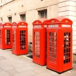 Red phone boxes London — Stock Photo #36554963