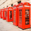 Red phone boxes London — Stock Photo