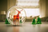 ガラスのトナカイ — ストック写真