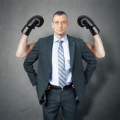 Business man protection — Stock Photo