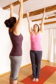Exercício de yoga — Fotografia Stock