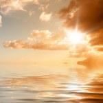 Sunset ocean — Stock Photo
