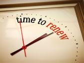 Time to renew — Stock Photo