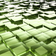 Green glass cubes — Stock Photo #43602377