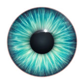 Turquoise eye — Stock Photo