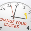Change Your Clocks — Stock Photo #45202395