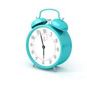 Turquoise alarm clock — Stock Photo