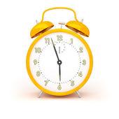 Orange alarm clock — Stock Photo