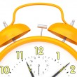 Orange alarm clock — Stock Photo