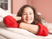 Girl relaxing — Stock Photo