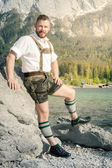 Traditional bavarian man — Stock Photo