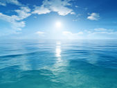 Blue sky ocean — Stock Photo