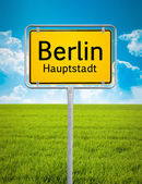 City sign of Berlin — Stock Photo