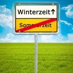 Daylight Saving german city sign — Foto Stock