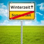 Daylight Saving german city sign — Stock Photo
