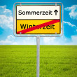Daylight Saving german city sign — Stock Photo #49163835