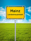 City sign of Mainz — Stock Photo