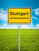 City sign of Stuttgart — Stock Photo