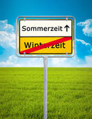 Daylight Saving german city sign — Stock Photo