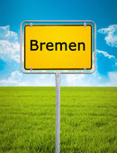 City sign of Bremen — Stock Photo