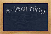 Chalkboard e-learning — Stock Photo