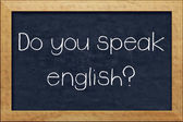 Do you speak english? — 图库照片