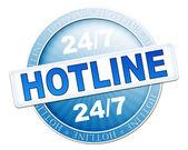 Hotline button — Stock Photo