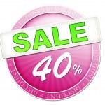 Sale button 40 percent — Stock Photo #49387827
