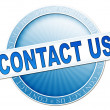 Contact us button blue — Stock Photo #49388071