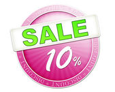 Sale button 10 percent — Stockfoto