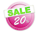 Sale button 20 percent — Stock Photo