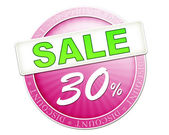 Sale button 30 percent — Stock fotografie