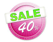 Sale button 40 percent — Stock Photo
