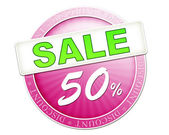 Sale button 50 percent — Stockfoto