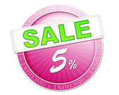 Sale button 5 percent — Stock Photo