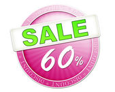 Sale button 60 percent — Stockfoto