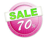 Sale button 70 percent — Stock fotografie
