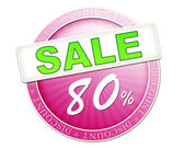 Sale button 80 percent — Stock fotografie