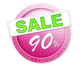 Sale button 90 percent — Stockfoto